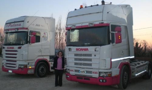 pink scania